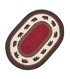 Ruff Hewn Bear Print Braid Accent Rug