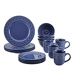 Paula Deen® Savannah Trellis Stoneware 16-pc. Dinnerware Set
