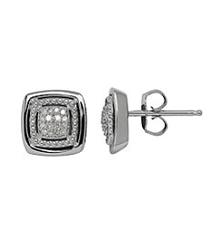 .10 ct. t.w. Diamond Earrings In Sterling Silver