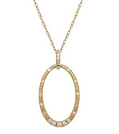 .20 ct. t.w. Diamond Hoop Pendant In 10K Yellow Gold