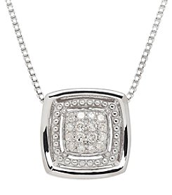 .10 Ct Diamond Pendant In Sterling Silver