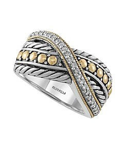 Effy® Balissima Collection .11 ct. t.w. Diamond Ring In Sterling Silver/Gold