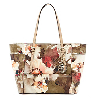 UPC 885935799935 product image for GUESS Delaney Floral-Print Small Classic  Tote  cfb247c3f5c35