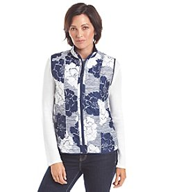 Alfred Dunner® Cape Hatteras Reversible Monotone Vest