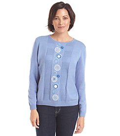 Alfred Dunner® Vienna Center Embellished Sweater