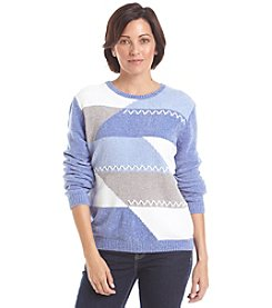 Alfred Dunner® Vienna Chenille Colorblock Sweater