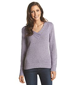 Carolyn Taylor® Solid Cross Over Sweater