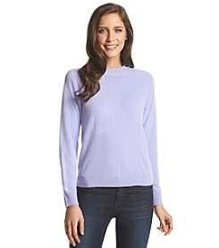 Carolyn Taylor® Solid Zip Back Pull Over Sweater