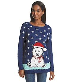Notations® Bear Holiday Sweater