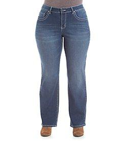 Earl Jean® Plus Size Embroidered Back Flap Pocket Jean