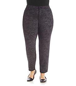 Gloria Vanderbilt® Plus Size Vicki Foil Ponte Pants