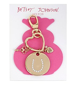 Betsey Johnson® Goldtone Pave Horse Shoe Key Fob