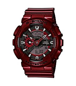 G-Shock Men's Red Metallic Analog-Digital Watch