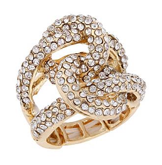 Erica Lyons® Goldtone Interlocking Circle Fashion Stretch Ring