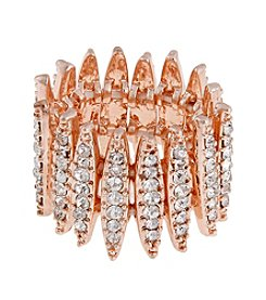 Erica Lyons® Goldtone Wide Wrap Fashion Stretch Ring