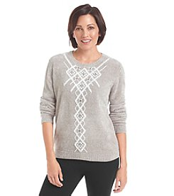 Alfred Dunner® Petites' Alpine Lodge Chenille Sweater