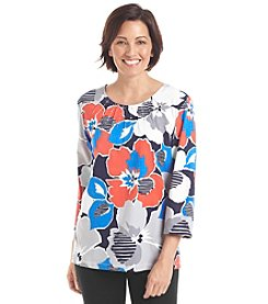 Alfred Dunner® Petites' Cape Hatteras Floral Knit Top