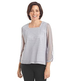 Alfred Dunner® Petites' Cape Hatteras Lace Stripe Knit Top