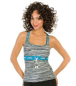 ECO SWIM by AquaGreen® Sketch Stripe Racerback Tankini Top