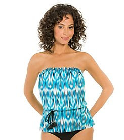 ECO SWIM by AquaGreen® Mist Bandeau Blouson Top