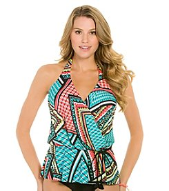 ECO SWIM by AquaGreen® Fiesta Halter Blouson Top