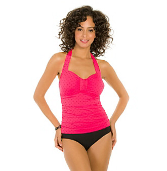 ECO SWIM by AquaGreen® Island Dot One Piece plus size,  plus size fashion plus size appare