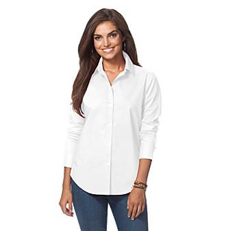 Upc 888000338428 chaps no iron shirt women 39 s size for No iron white shirt womens