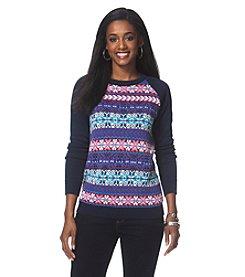 Chaps® Fair Isle Raglan Sweater