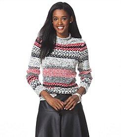 Chaps® Fair Isle Crewneck Sweater