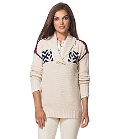Chaps® Nordic Shawl Sweater