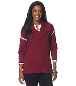 Chaps® Nordic Shawl Sweater