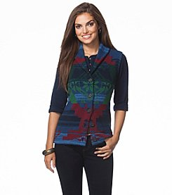 Chaps® Southwestern Sweater Vest