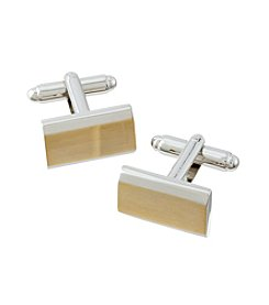 Kenneth Roberts Platinum® Men's Beveled Rectangle Cufflinks