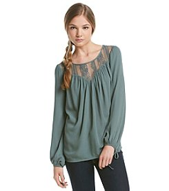Living Doll® Lace Peasant Top