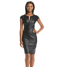 XOXO® Faux Leather Sheath Dress