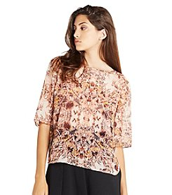 BCBGeneration™ Floral Peasant Top