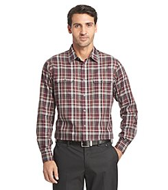 Van Heusen® Men's Long Sleeve Heathered Plaid Button Down Shirt