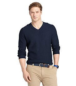Izod® Men's Link Stitch V-Neck Sweater