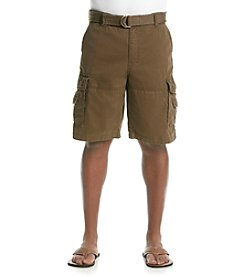 Ruff Hewn Men's Belted Twill Cargo Shorts