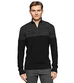 Calvin Klein Men's 1/4 Zip Colorblock Sweater