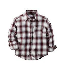 Carter's® Boys' 2T-7 Long Sleeve Plaid Flannel