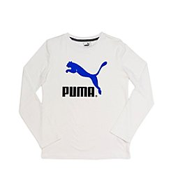 PUMA® Boys' 8-20 Long Sleeve Active Tee