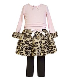 Bonnie Jean® Baby Girls' 12-24M Animal Print Top and Skirt Set