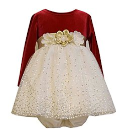 Bonnie Jean® Baby Girls' 12-24M Long Sleeve Stretch Velvet Dress