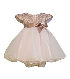 Bonnie Jean® Baby Girls' 12-24M Foiled Organza Dress