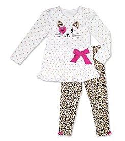 Nannette® Baby Girls' Kitty Leggings Set
