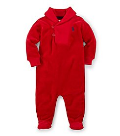 Ralph Lauren Childrenswear Baby Boys' Solid Colored Coverall Shawl