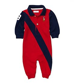 Ralph Lauren Childrenswear Baby Boys' Mesh Banner Coverall