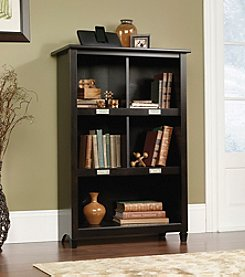 Sauder Edge Water Estate Bookcase with Shelf Labels