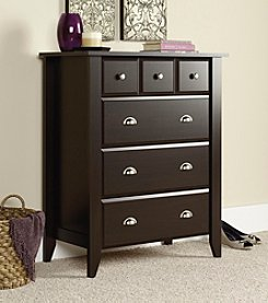 Sauder Shoal Creek Four Drawer Dresser